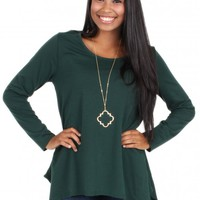 Needed Me Top in Hunter Green   Monday Dress Boutique