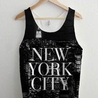 New York City Vogue Skyline Full Print Unisex Tank Top
