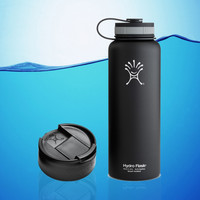 Hydro Flask 40 Oz Insulated Stainless Steel Water Bottle Black + Hydro Flip Cap
