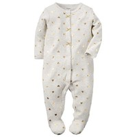 Baby Girl Carter's Foil Heart Sleep & Play