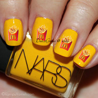 Fast Food McDonalds French Fry Inspired Nail Decals