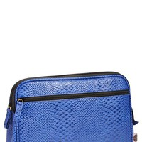 steph&co. 'Blue Python - Large' Cosmetics Case (Nordstrom Exclusive)