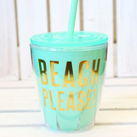 Beach Please! Short Tumbler {10oz}
