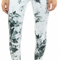 7 for all mankind   high waist ankle skinny (x-ray floral)