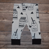 Baby Leggings, Toddler Leggings - Milk Cartons