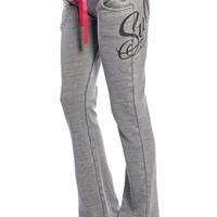 """Womens """"Easy Life"""" Fleece Pants by Sullen Clothing (Grey)"""