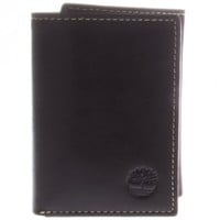 Timberland Brown Smooth Shiny Leather Trifold Wallet
