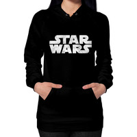 Star Wars Distressed Logo Hoodie (on woman)