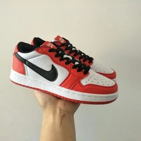 Nike Air Jordan I Unisex Casual Fashion Multicolor Low Help Plate Shoes Basketball Shoes Couple Sneakers