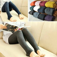 New 2014 Women Leggings Winter Fashion Legging for Women Autumn leggins Knitted Warm Candy Color Crochet Leg Warm Super Elastic