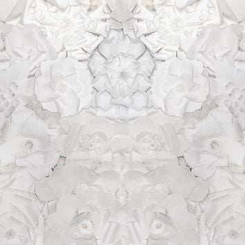 White Paper Flowers Pattern Background - 6101