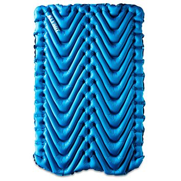KLYMIT Double V Sleeping Pad, 2 Person, Double Wide (47 inches), Lightweight Comfort for Car Camping, Two Person Tents, Travel, and Backpacking Uninsulated