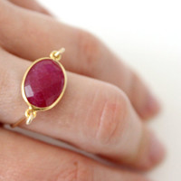 Ruby ring in 14kt gold filled - custom size