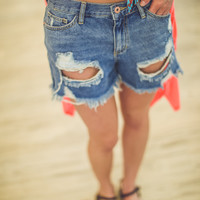 Boyfriend Jean Shorts in Light Denim
