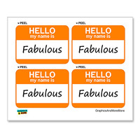 Fabulous Hello My Name Is - Sheet of 4 Stickers