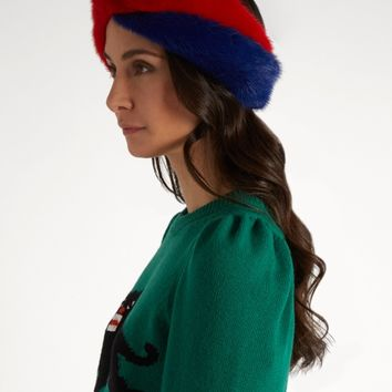 Twist-front mink-fur headband | Gucci | MATCHESFASHION.COM US