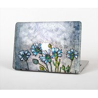 """The Watercolor Blue Vintage Flowers Skin Set for the Apple MacBook Air 11"""""""