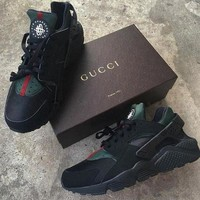 Nike Gucci Drops the Air Huarache Ultra Women Casual Running Sport Sneaker Shoes