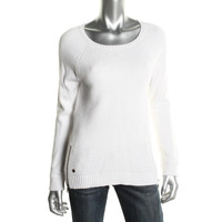 LRL Lauren Jeans Co. Womens Ribbed Knit Long Sleeves Pullover Sweater