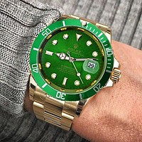 Rolex tide brand fashion men and women fashion watches B-SBHY-WSL Green