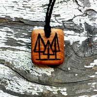 All Natural Tree Nature Wooden Pendant Necklace