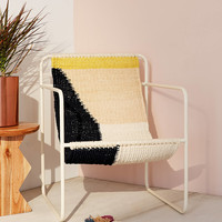 Kimball Colorblock Macrame Sling Chair | Urban Outfitters