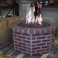 """Do-It-Yourself Ready-to-Finish 60"""" Octagon Fire Pit Kit"""