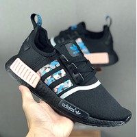 ADIDAS NMD R1  Primeknit Triple Black Gym shoes