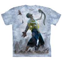 ZOMBIE SCRAPS The Mountain Walking Dead Skull Skeleton Brains T-Shirt S-3XL NEW