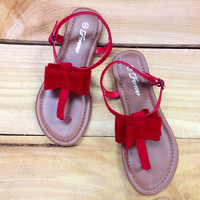 THE SARAH SANDAL IN RED