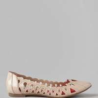 MIA SHOES, NOMAD CUTOUT FLAT IN NUDE