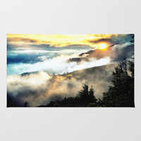 Sunrise mountains Rug by 2sweet4words Designs