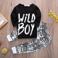 Clothing Sets boy sleeve + pants 2pcs sport set
