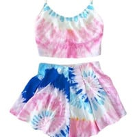 Cotton Candy Tie-Dye Two-Piece