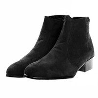 Suede Chelsea Laceless Boots