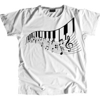 Piano Musical Band Musician T-Shirt 100% Cotton Premium Tee NEW
