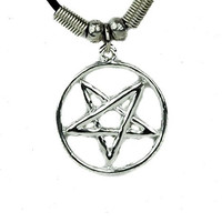 Silver Woven Pentagram Necklace Jewelry