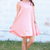 Swing Into Me Tank Dress {Pink Rose}