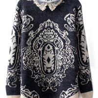 Dual-tone Totem Knitted Jumper