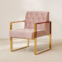 Mindi Velvet Tufted Arm Chair | Urban Outfitters