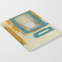 Soft and Bold Rothko Inspired - Modern Art - Teal ... Notebook - by Corbin Henry