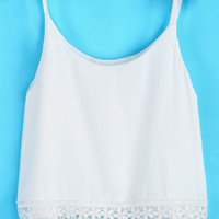 Lace Trim Crop Tank from Now and Again Co.