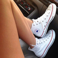 Converse All Star Sneakers canvas shoes for Unisex sports shoes high-top white