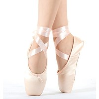 2017 Hot Child and Adult ballet pointe dance shoes ladies professional ballet dance shoes with ribbons shoes woman
