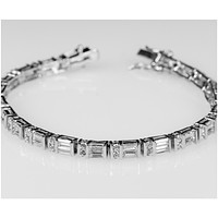 Lilith Radiant Baguette Tennis Bracelet – 7.25in | 20ct