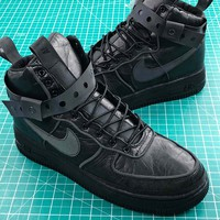 Nike Air Force 1 High 90/10 All Star 2018 Triple Black Sport Shoes - Best Online Sale
