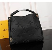lv louis vuitton women leather shoulder bags satchel tote bag handbag shopping leather tote 129