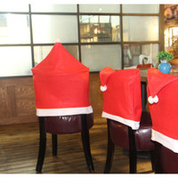Santa Hat Coverings Chair Back Covers Christmas Chair Set Dinner Home Decor