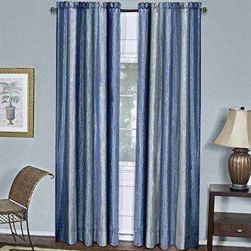 Ben&Jonah Collection Ombre Window Curtain Panel 50x84 - Blue