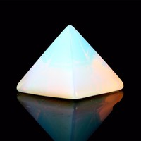 Opal Rose Quartz Pyramid For Chakra Healing & Reiki
